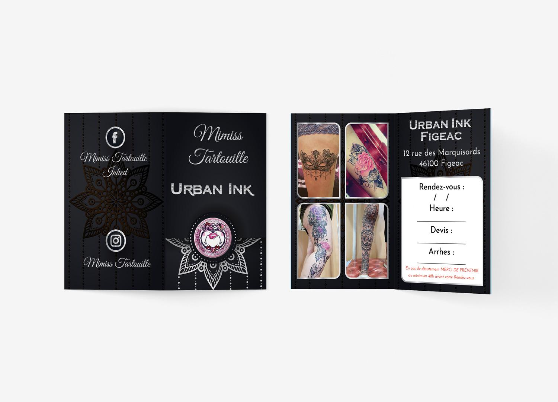 Mimiss Tartouille carte de visite plié