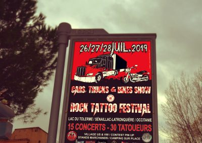 Affiche festival rock tattoo cars trucks bikes