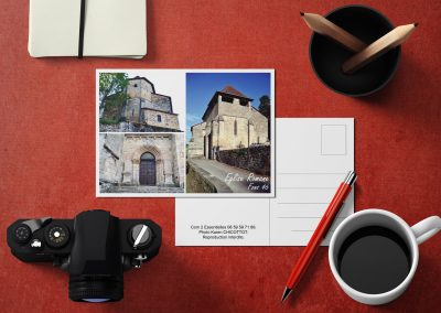 Carte postale Église de Fons 46