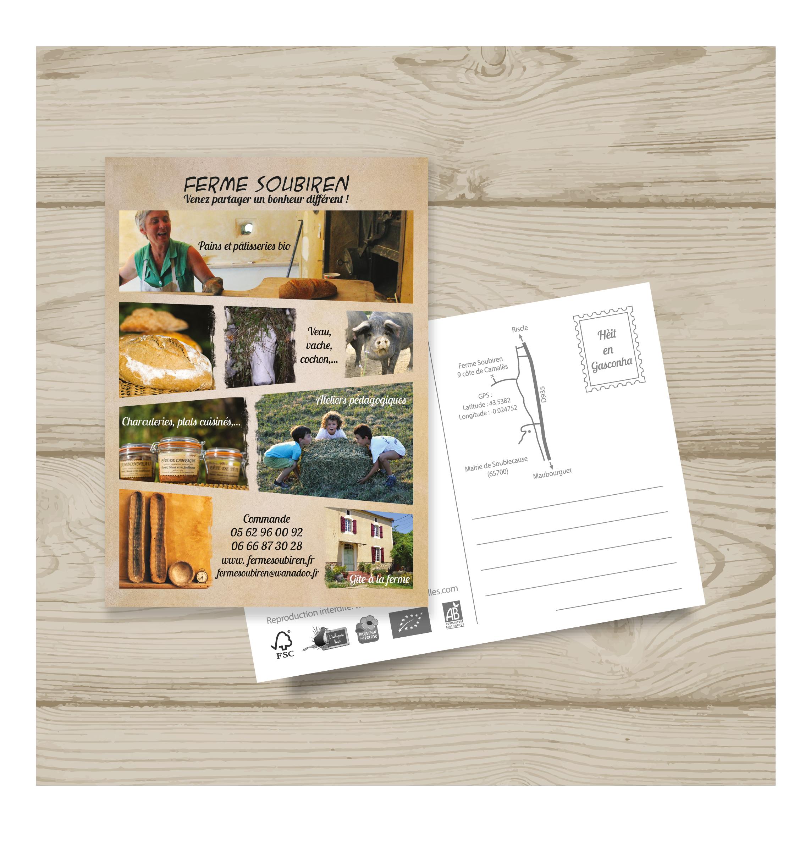 Carte postale de la ferme Soubiren