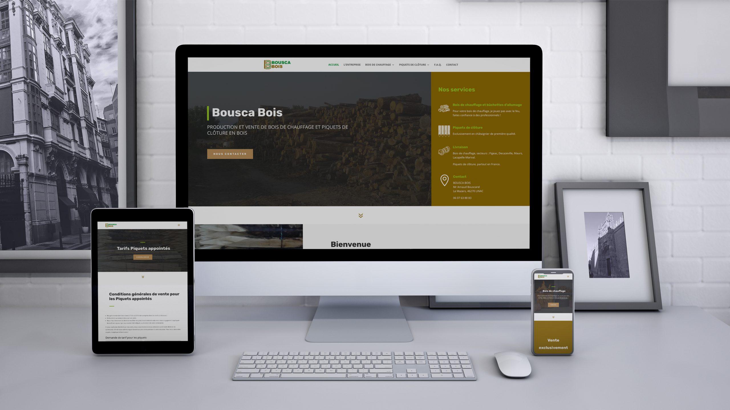 Site internet Bousca Bois