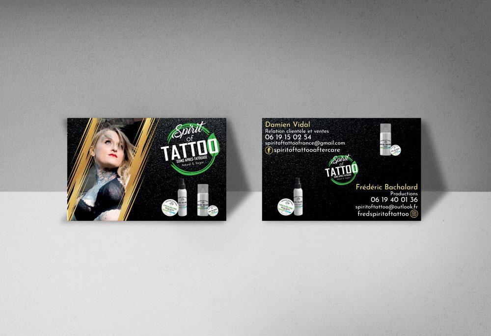 Carte de visite spirit of tattoo