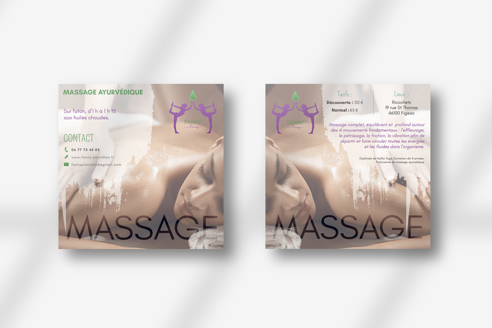Flyer Fanny Planchon - Massage