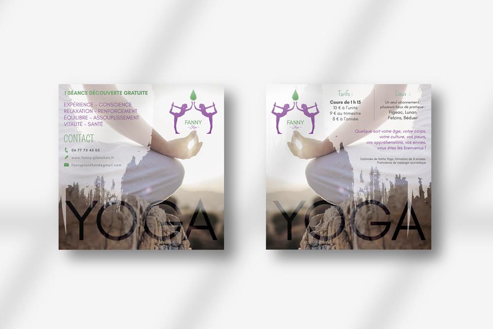 Flyer Fanny Planchon - Yoga