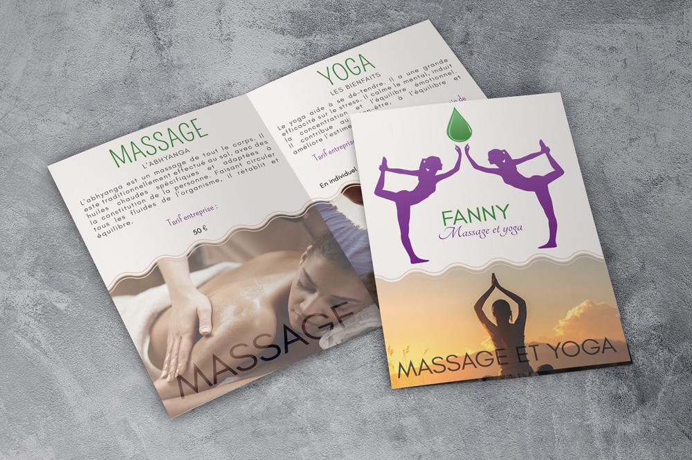 Plaquette entreprise Fanny - Massage et yoga